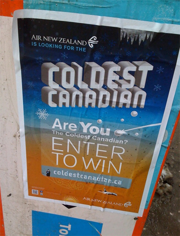 Air New Zealand - Are You the Coldest Canadian?