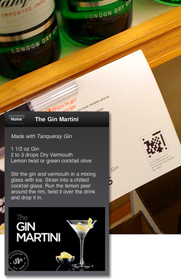 LCBO uses QR Codes to direct shoppers to Classic Cocktail recipes