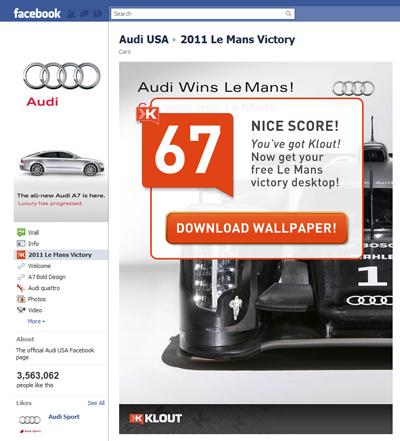 Audi USA Klout