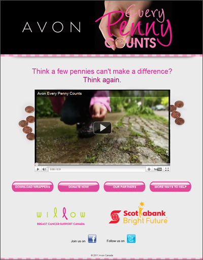 Avon Canada - Every Penny Counts