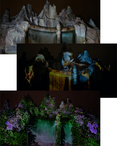 Canada's Wonderland 3D Projection