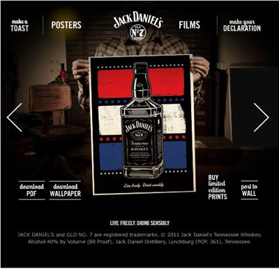 Jack Daniels Letterpress Posters