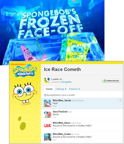 Spongebob Squarepants Frozen Faceoff