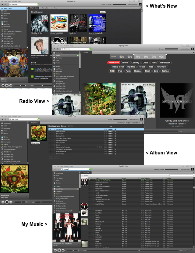 Spotify Screenshots