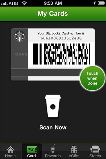 Jonathan's Starbucks Card