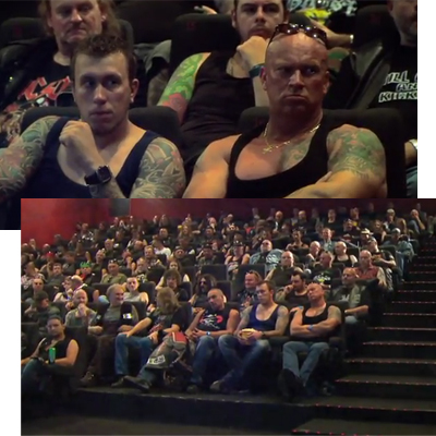 Carlsberg Stunt Sends Unsuspecting Couples Into Biker-Filled Movie Theatre
