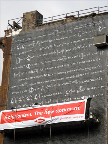 Dow Giant Chalkboard