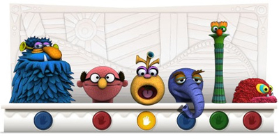 Jim Henson 75th Birthday Google Doodle
