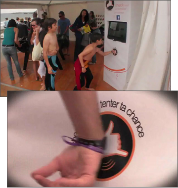 French Surf Fans Check-In to Facebook Using RFID wristbands