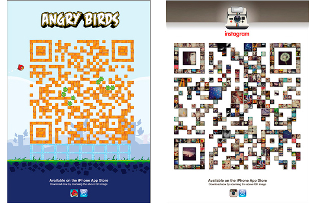 Clever ad concept uses customized qr codes to connect to mobile clever ad concept uses customized qr codes to connect to mobile users to app store sciox Choice Image