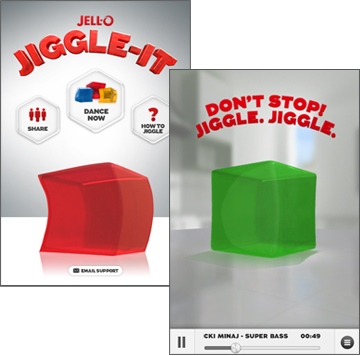 JELL-O Jiggle-It iPhone app