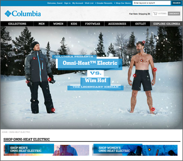 Columbia Omni Heat vs. Wim Hof