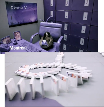 FedEx Canada Uses Shipping Boxes as Dominoes
