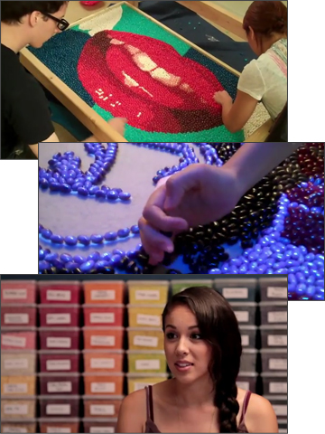 Kina Grannis - In Your Arms - 288,000 jelly beans used to create stop-action music video