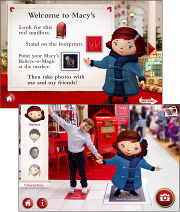Macy's Believe O' Magic Augmented Reality App