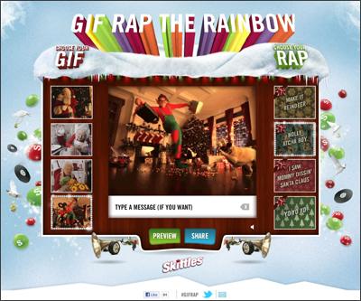 Skittle Gif Rap the Rainbow