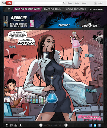 Axe Anarchy Fragrance Graphic Novel