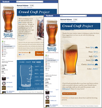 "Samuel Adams ""Crowd Craft Project"" app"