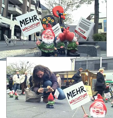 Toom Baumarkt Gnome Protest