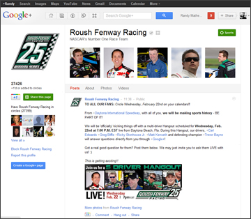 Roush-Fenway Racing on Google+