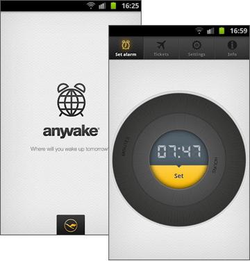 Lufthansa Anywake App