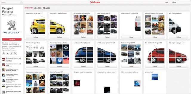 Peugeot Panama Pushes the Possibilities of Pinterest