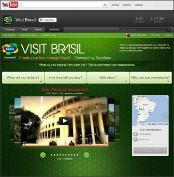 Brazil Tourism Board - YouTube Vacation Planner