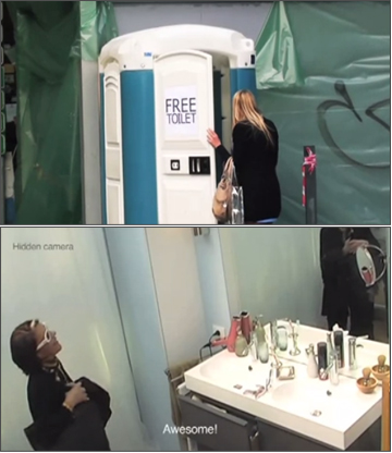IKEA Turns Port-a-Potty into Bathroom Product Showcase