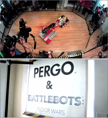 Pergo versus Battlebots in Floor Wars