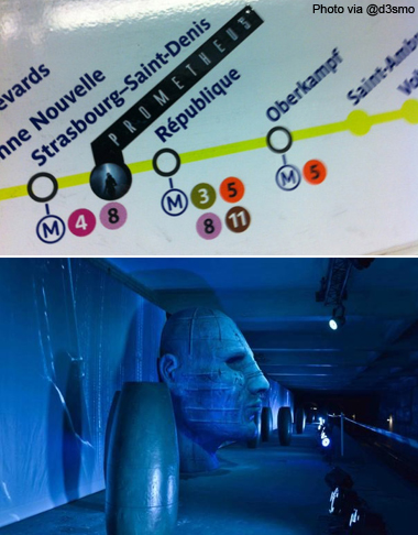 Prometheus Promo takes over closed Paris subway station