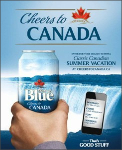Labatt Blue - Cheers to Canada augmented reality