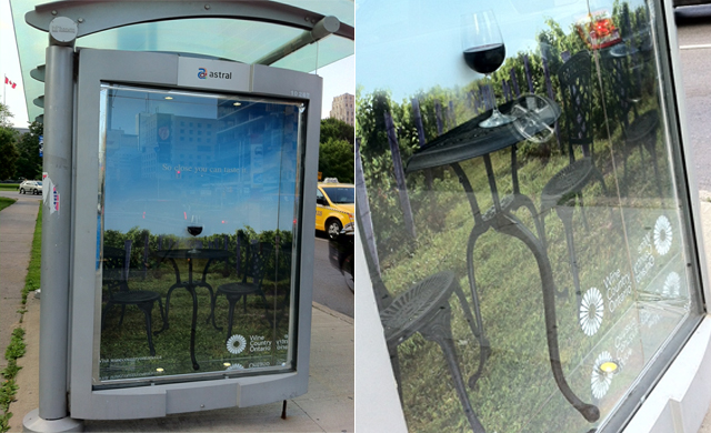 Wine Country Ontario Bus Shelter