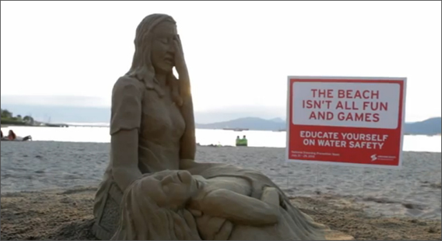 Lifesaving Society BC & Yukon - Sand Sculpture