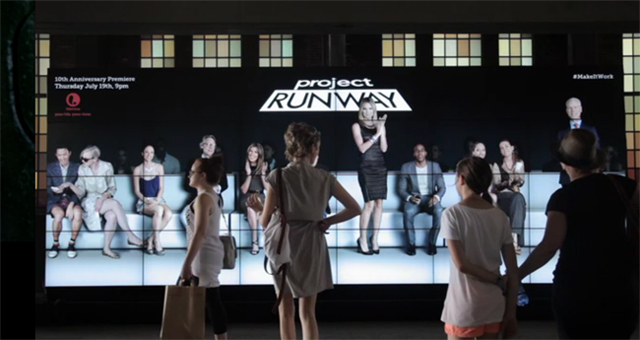 Project Runway #MakeItWork Interactive Wall