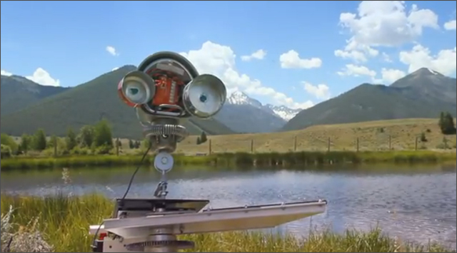 Skippy the Rock Skipping Robot