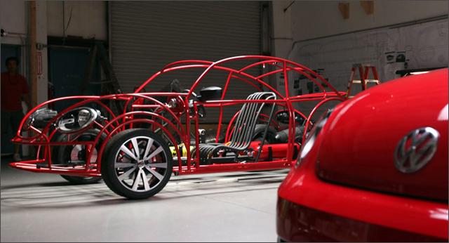 Volkswagen Beetle Shark Observation Cage