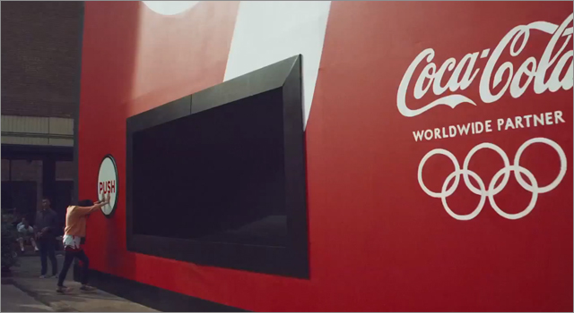 Coca Cola 100 ft Vending Machine