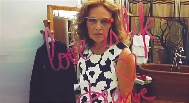 DVF Spring 2013 show at New York Fashion Week through Google Glass