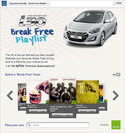 Hyundai i30 Break Free Playlist