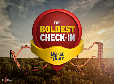 Kraft Wheat Thins - Six Flags: The Boldest Check-in