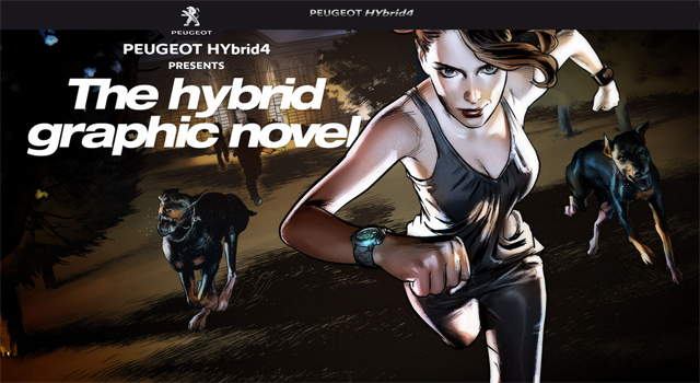 Peugeot Hybrid4 Graphic Novel
