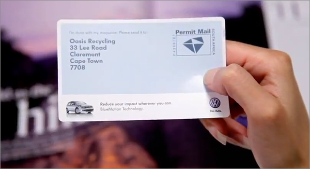 Volkswagen BlueMotion Recycling Campaign