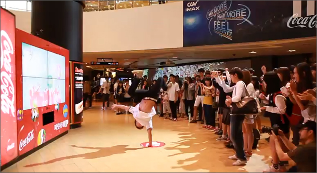 Coca-Cola Dance-Powered Vending Machine