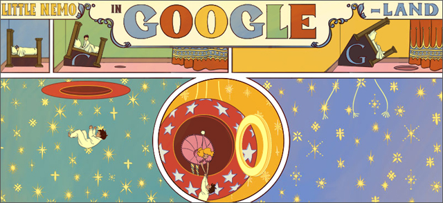 Google Doodle Celebrates 107th Anniversary of First 'Little Nemo in Slumberland' Comic Strip