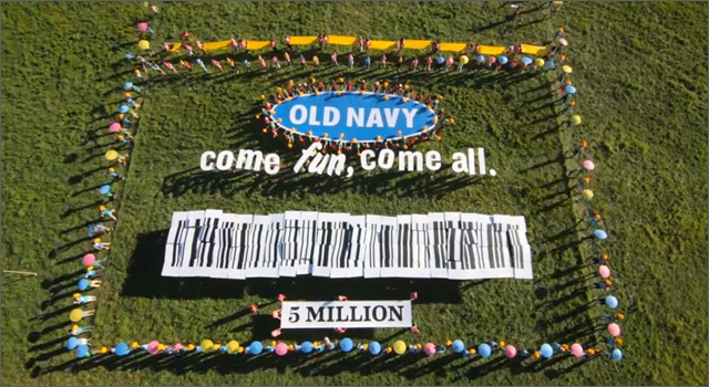 Old Navy - 5 Million Facebook Fans