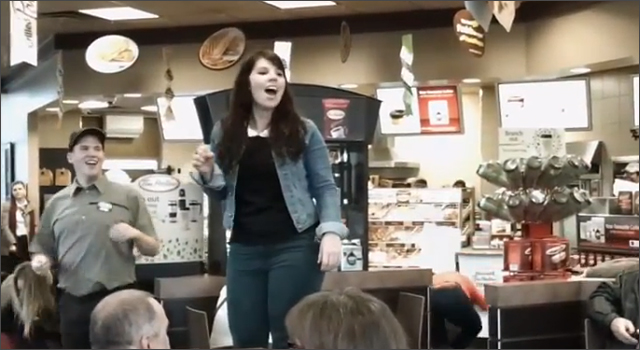 Tim Hortons - 2 Million Facebook Fans Flash Mob