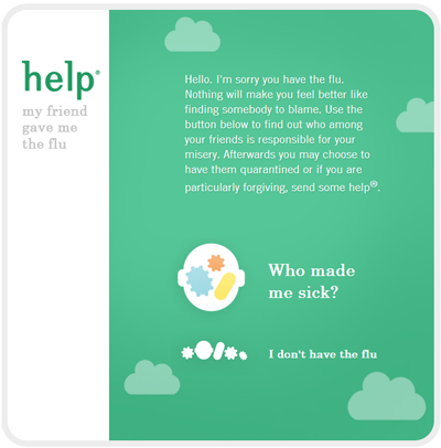Help Remedies - 'Who Gave Me the Flu' Facebook App