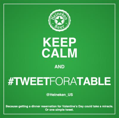 Heineken Valentine's Day #tweetforatable