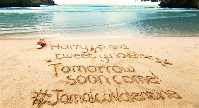 Jamaica Tourist Board - Valentine's Day Tweets in the Sand