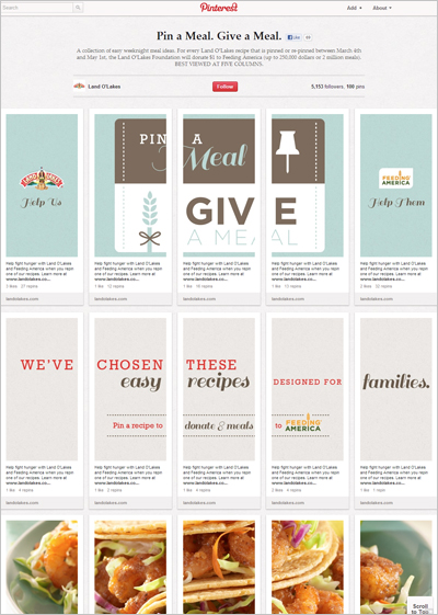 Land O'Lakes - Pin a Meal, Give a Meal